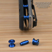 Zero Tolerance ZT0452CF 452 ZT Titanium 3pc Blade Stop Pin & Spacer Set - BLUE