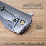 Zero Tolerance ZT0920 ZT 0920 920 Custom Titanium Pivot Screw BRONZE - NO KNIFE