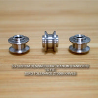 Zero Tolerance ZT0566 ZT 566 0566 Knife Custom RAW Titanium Spacer Standoffs Set