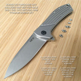 Zero Tolerance ZT0801 801 ZT0801BW 0801 ZT Knife 11PC Titanium Screw Set RAW Ti