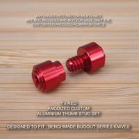 Benchmade 535 BUGOUT Custom Designed 2 Piece Thumb Stud Set - Anodized RED