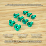 9 pc GREEN Anodized Titanium Screw Set for Spyderco Paramilitary PM2 (NO KNIFE)