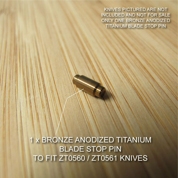Zero Tolerance ZT0560 561 ZT Knife Anodized Titanium Blade Stop Pin - BRONZE