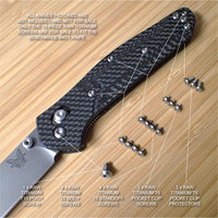 Benchmade 940-1 Osborne Knife 16 PC Custom Natural RAW Titanium Screw & Piv Set