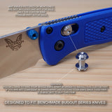 Benchmade 533 MINI BUGOUT Custom RAW Titanium Axis Lock Bar - No Knife