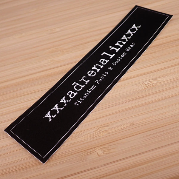 FREE xxxadrenalinxxx Logo Sticker!   (no knives included)