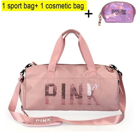 Women's Waterproof Gym Bag - Gym Bag with Shoe Compartment