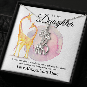 Twin Giraffe Necklace, Love, Soul Mate, Gift for Daughter