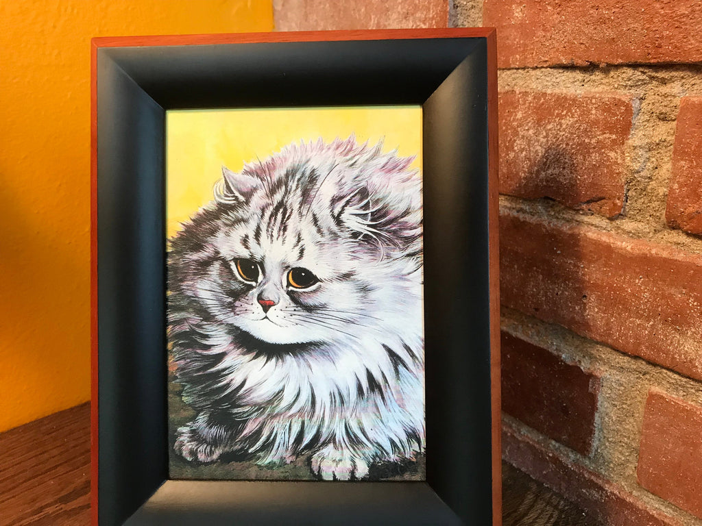 Louise Wain Cat Artwork Framed 5x7