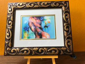 Twinflames in Love, Twin Flame Art, Framed Matted 8x10, Twinflame Love Spell, Love Oracle, Sacred Feminine, Esoteric Art