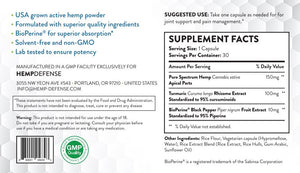 Hemp Defense Relief Capsules (30 Count)