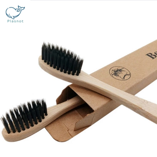 Eco-Brush Pack | Charcoal ∞ Wood | Ocean-Friendly | Greentic ✓ Plasnot X