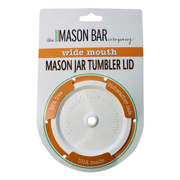 The Classic White MBC Mason Jar Tumbler Lid