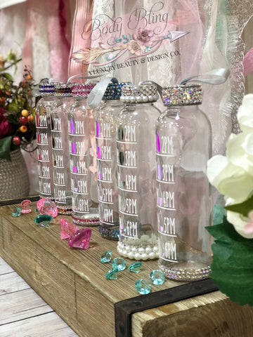 Swarovski Rhinestoned Glass Water Bottle