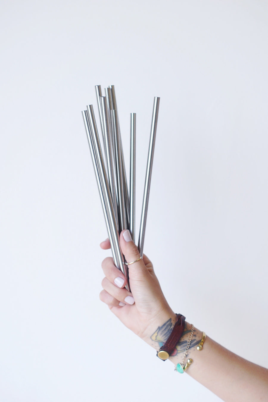 Metal Straws (Bent and Straight)
