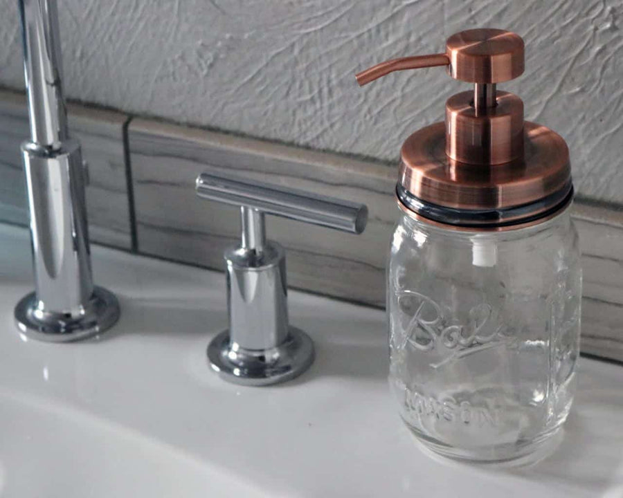 Soap Dispenser Mason Jar Set