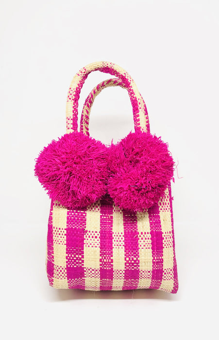 Schooner Fuchsia Gingham Mini Bag