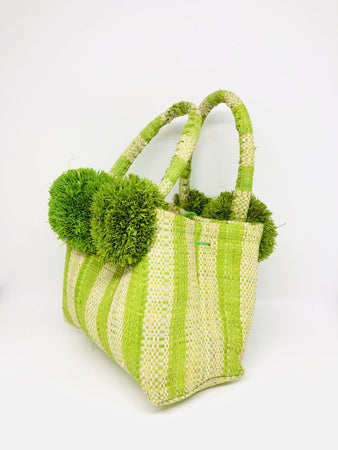 Schooner Stripes Mini Bag - Lime