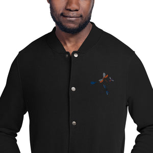 Dragonfly & Hornet Embroidered Champion Bomber Jacket