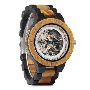Automatic Watch Men's Wood Mechanical Timepiece
