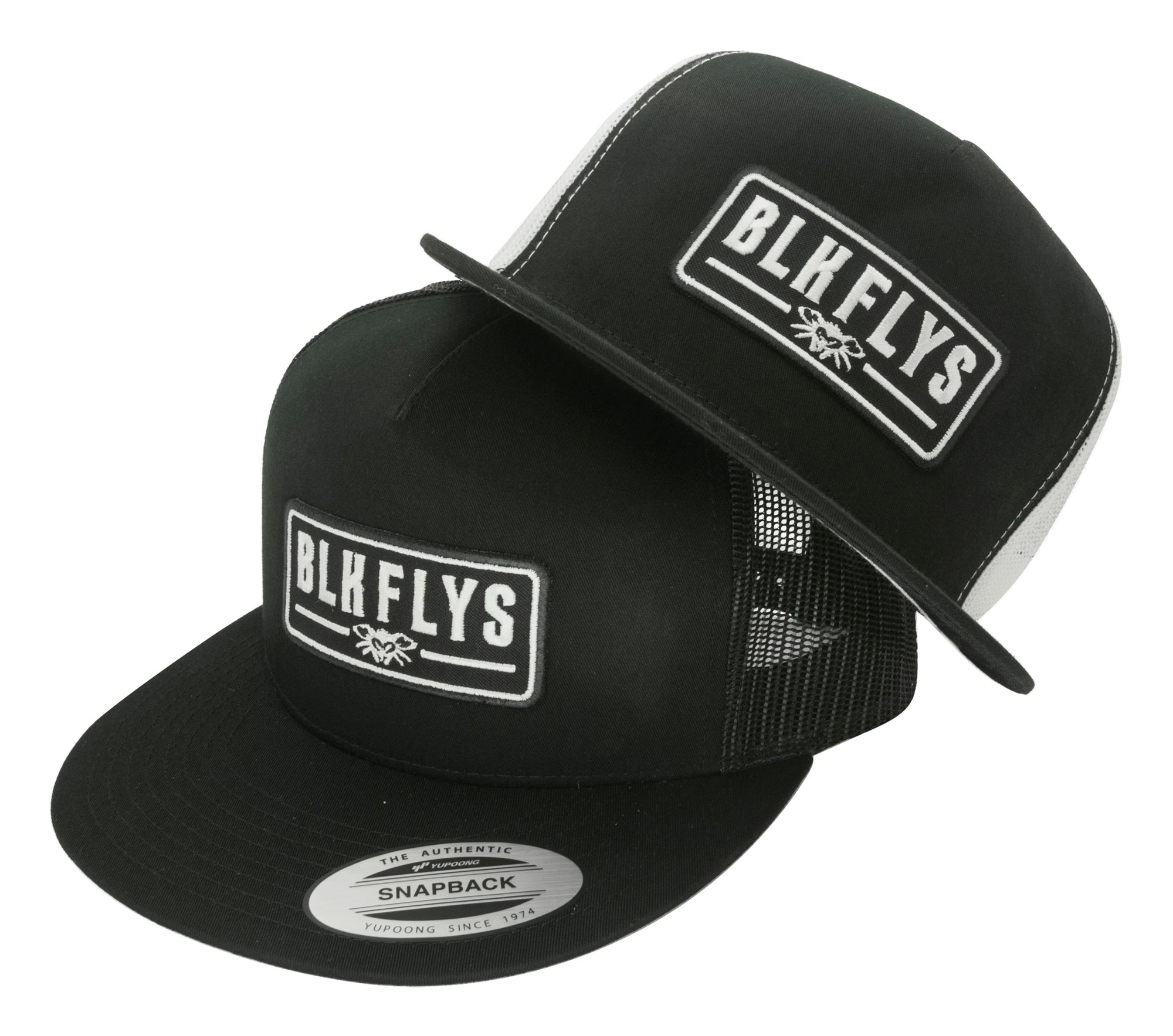 Blk Flys Patch Trucker