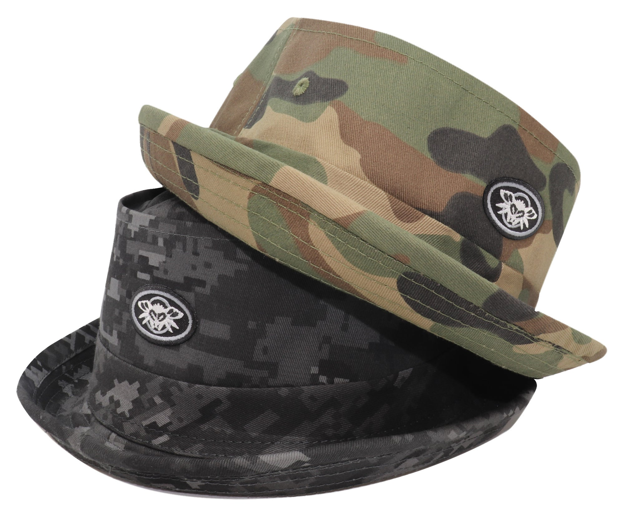 Dot Phantom Patch Bucket Hat