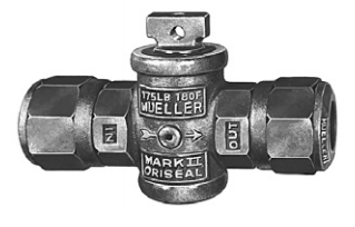 Mueller Oriseal II Curb Stop Comp with Drain