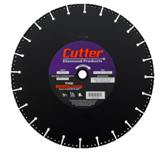 Cutter Diamond Demolition Blade 14 x .125 x 1/20mm
