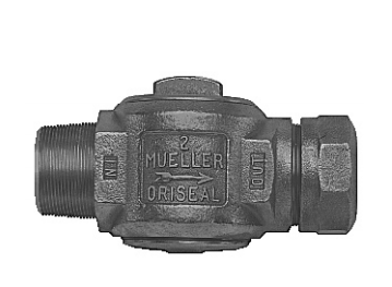 Mueller AWWA/CC x Compression Oriseal Corporation stop