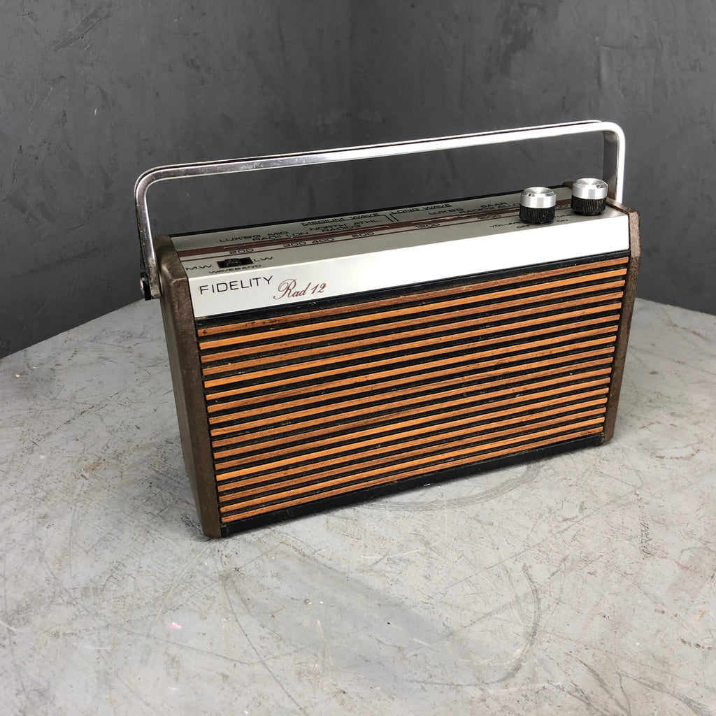 """Fidelity Rad 12"" Radio - converted to Bluetooth Speaker"