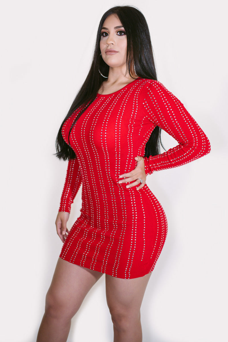 Vegas Long Sleeve Mini Dress