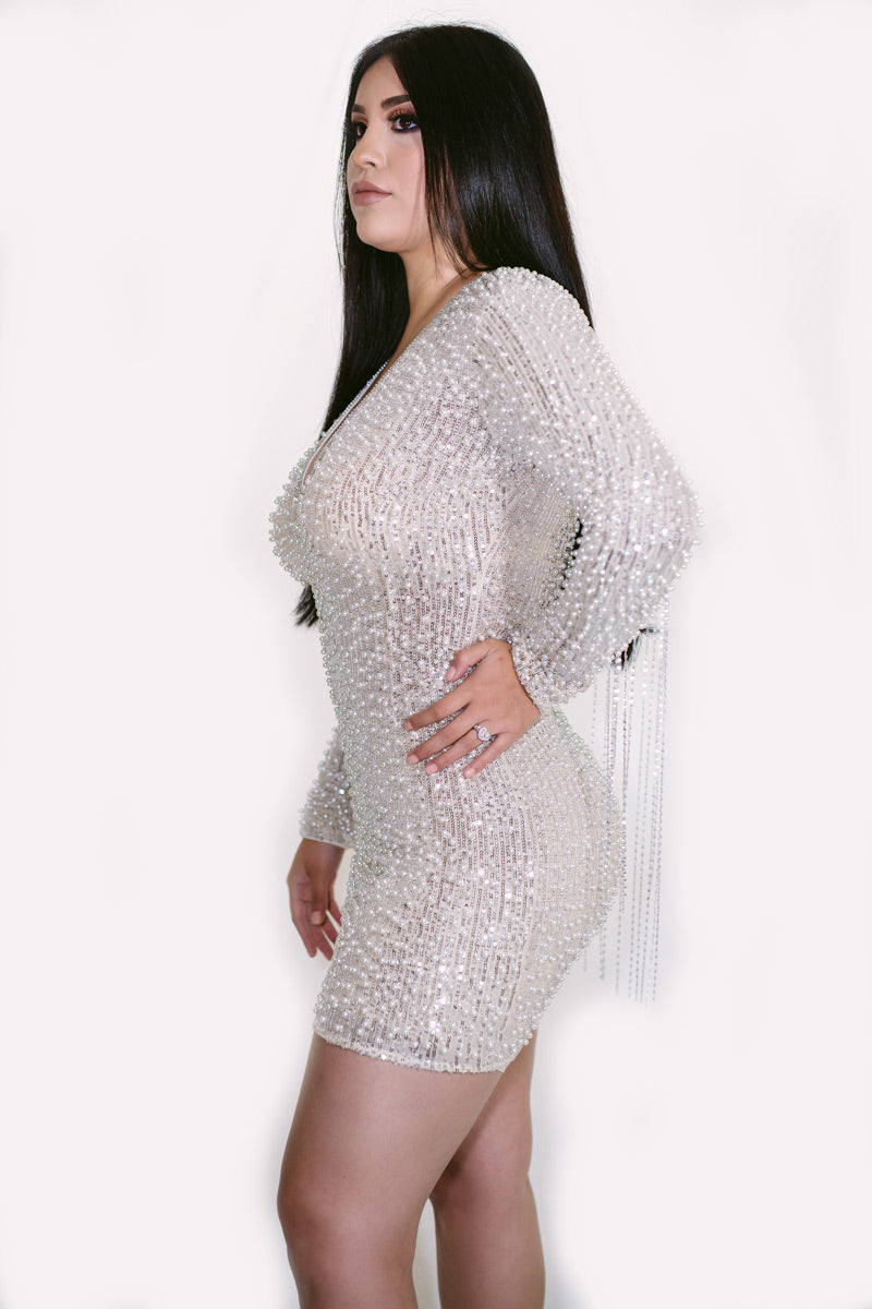 Luna Pearl Sequins Mini Dress
