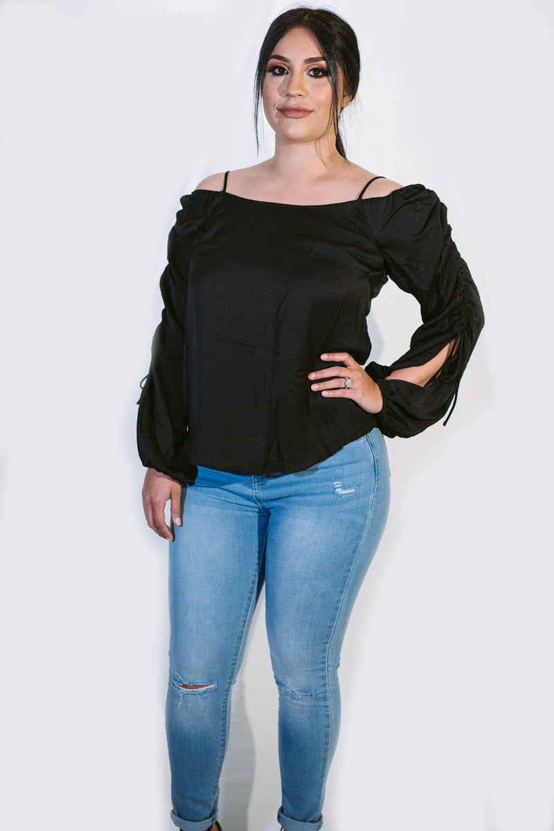 Sheek Cold Shoulder Top