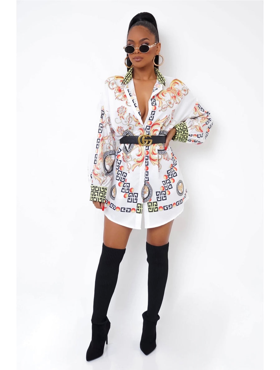 Baroque Shirt Dress