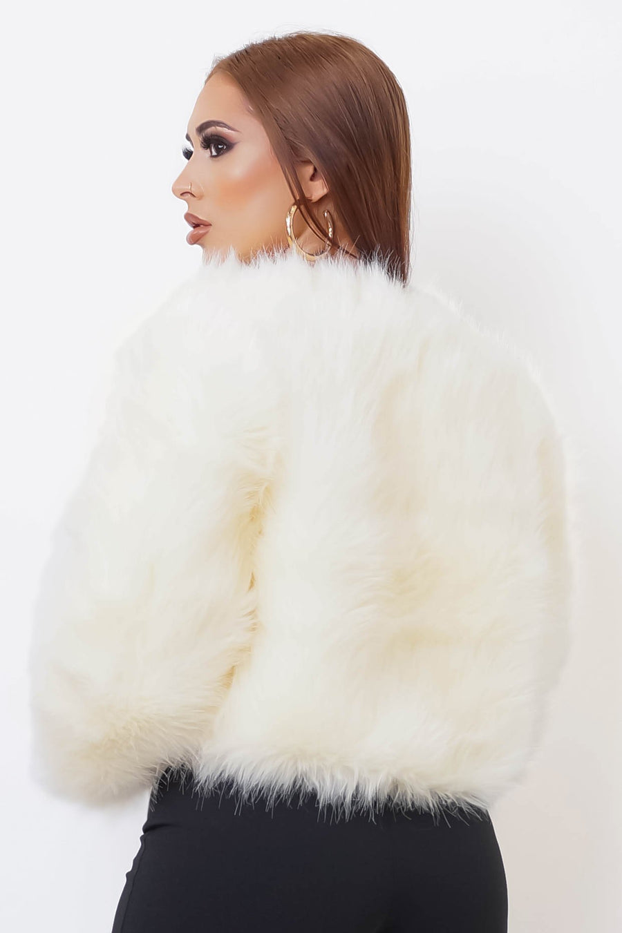 Pegasis Ivory Faux Coat