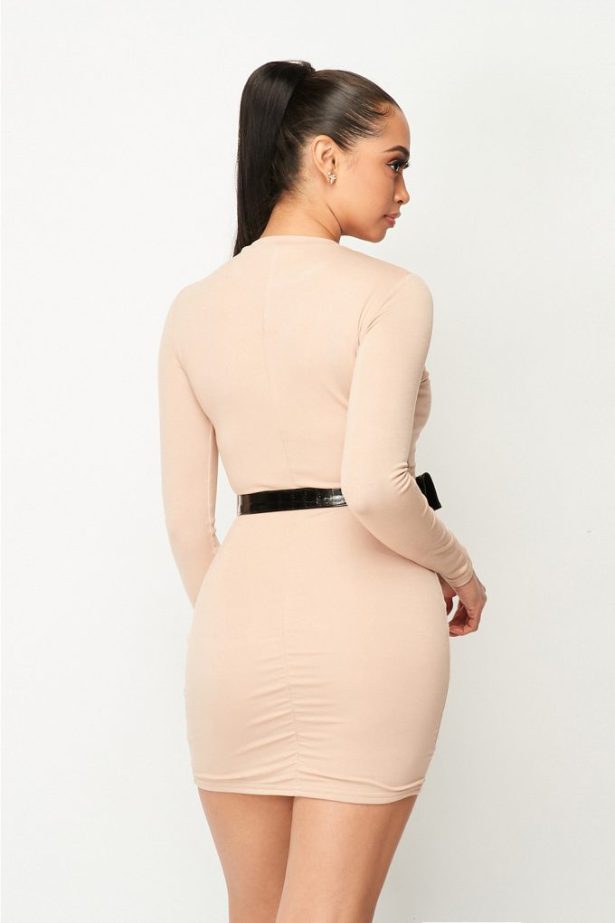 Mesfin long sleeve body-con dress