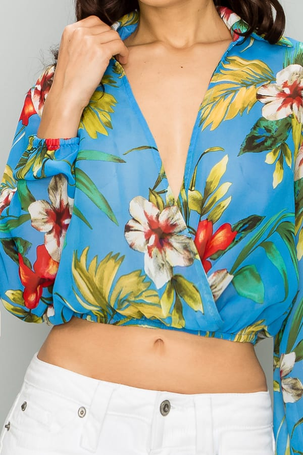 Kala Floral Print Crop Top