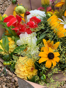 31/07/20 Mixed local  summer flower  Bouquet 100%  locally grown blooms