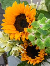 Load image into Gallery viewer, 10/07/20 Ercolano LA lily and sunflower Bouquet 100% British grown blooms