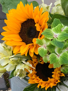 10/07/20 Ercolano LA lily and sunflower Bouquet 100% British grown blooms