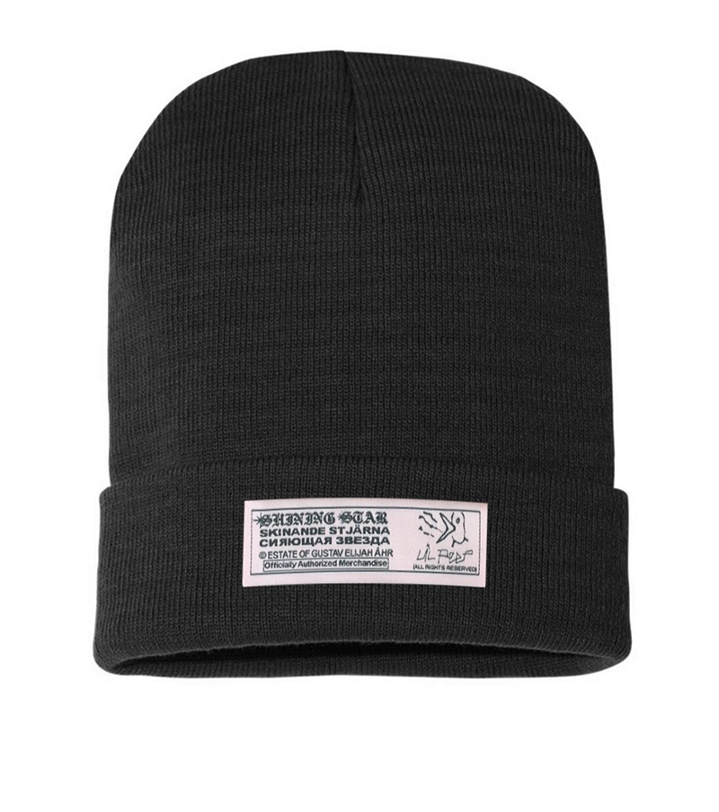 Shining Star Knit Black Beanie