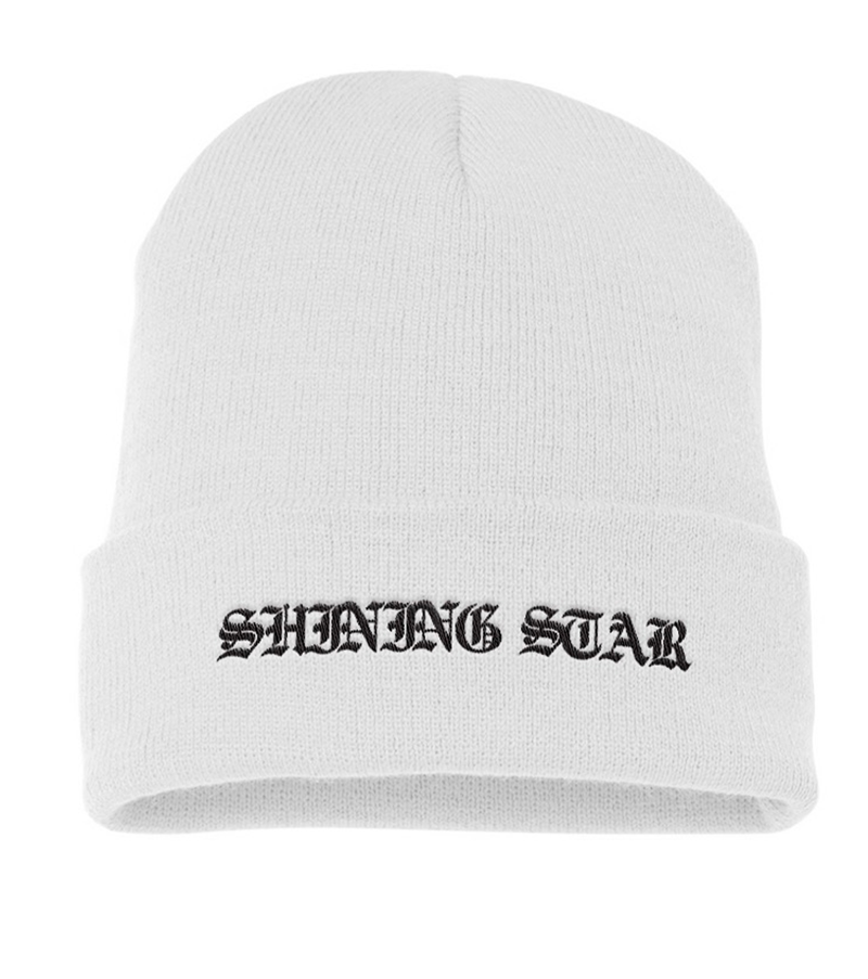 Shining Star Knit White Beanie + Everybody's Everything Digital Album