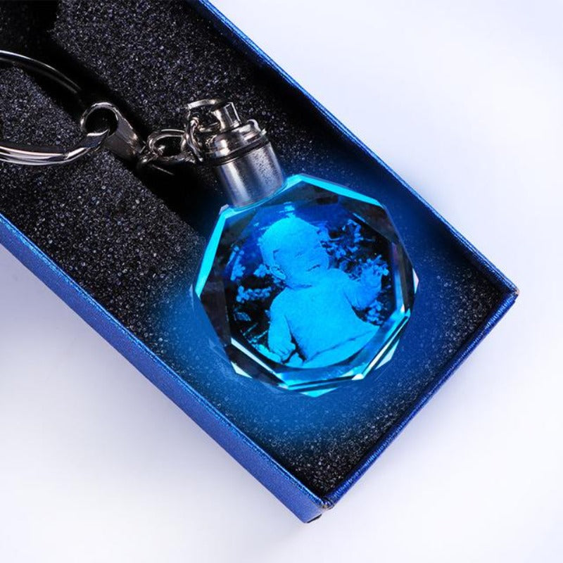 3d crystal photo keychain