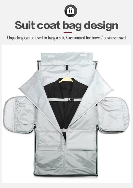 luggage bags with inner suit / garment holder