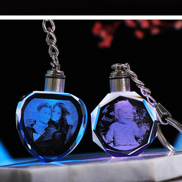 engraved keychains, 3D photo keychain