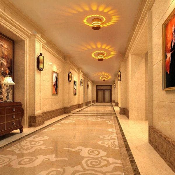 decorative Spiral Led wall Lights for hallway decoration