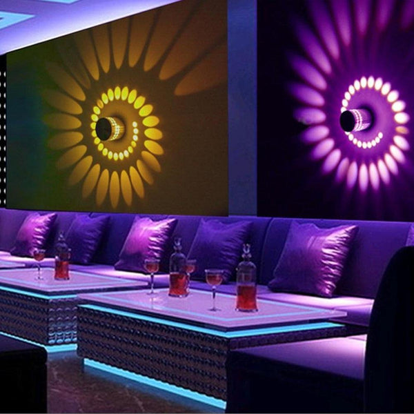 decorative Spiral Led wall Lights for living room and children room decoration