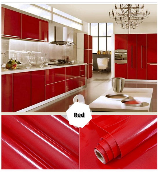 red self adhesive wallpaper