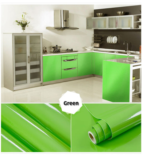 green self adhesive wallpaper