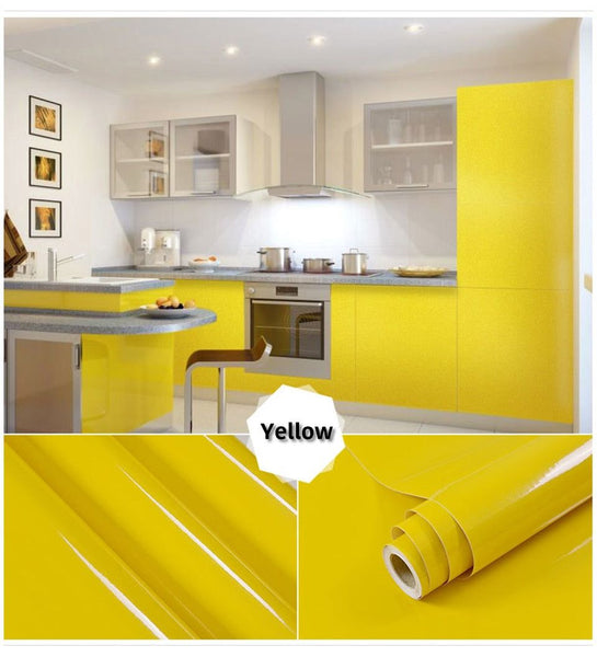 yellow self adhesive wallpaper